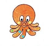 Craft Factory Iron or Sew On Fabric Motif Applique - Octopus