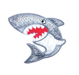 Craft Factory Iron or Sew On Fabric Motif Applique - Shark