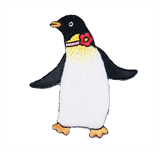 Craft Factory Iron or Sew On Fabric Motif Applique -Dancing Penguin