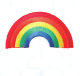 Craft Factory Iron or Sew On Fabric Motif Applique - Rainbow