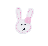 Craft Factory Iron or Sew On Fabric Motif Applique - Bunny with Button