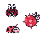 Craft Factory Iron or Sew On Fabric Motif Applique - Ladybirds