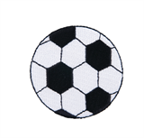Craft Factory Iron or Sew On Fabric Motif Applique - Football