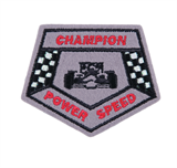 Craft Factory Iron or Sew On Fabric Motif Applique - Champion Badge