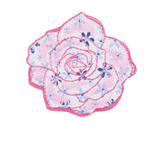 Craft Factory Iron or Sew On Fabric Motif Applique - Quilted rose