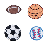 Craft Factory Iron or Sew On Fabric Motif Applique - Sports Balls