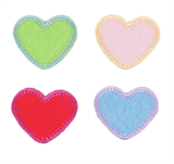 Craft Factory Iron or Sew On Fabric Motif Applique - Hearts