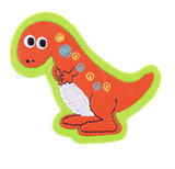 Craft Factory Iron or Sew On Fabric Motif Applique - Dinosaur