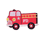 Craft Factory Iron or Sew On Fabric Motif Applique - Fire Truck