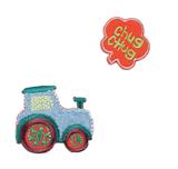 Craft Factory Iron or Sew On Fabric Motif Applique - Tractor Chug Chug