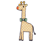 Craft Factory Iron or Sew On Fabric Motif Applique - Yellow Spotted Giraffe