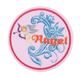 Craft Factory Iron or Sew On Fabric Motif Applique - Angel Disc