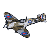 Craft Factory Iron or Sew On Fabric Motif Applique - Fighter Plane