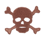 Craft Factory Iron or Sew On Fabric Motif Applique - Skull and Cross Bones