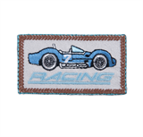 Craft Factory Iron or Sew On Fabric Motif Applique - Blue Racing Car