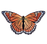 Craft Factory Iron or Sew On Fabric Motif Applique - Orange Butterfly