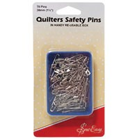 Quilters Safety Pins 30mm: Open Plated