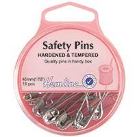 Safety Pins: 46mm - Nickel - 18pcs