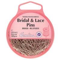 Bridal and Lace Pins: Nickel - 25mm, 300pcs