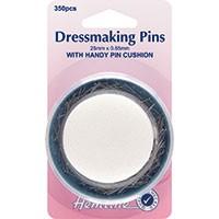 Dressmaker Pins & Foam Pincushion: 25mm, 350pcs