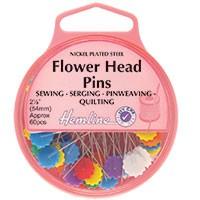 Flower/Flat Head Pins: Nickel - 47mm, 60pcs