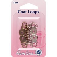 Coat Loops: Bronze/Nickel - Metal - 2pcs