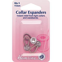 Collar Expanders: Metal - 11mm - 3pcs