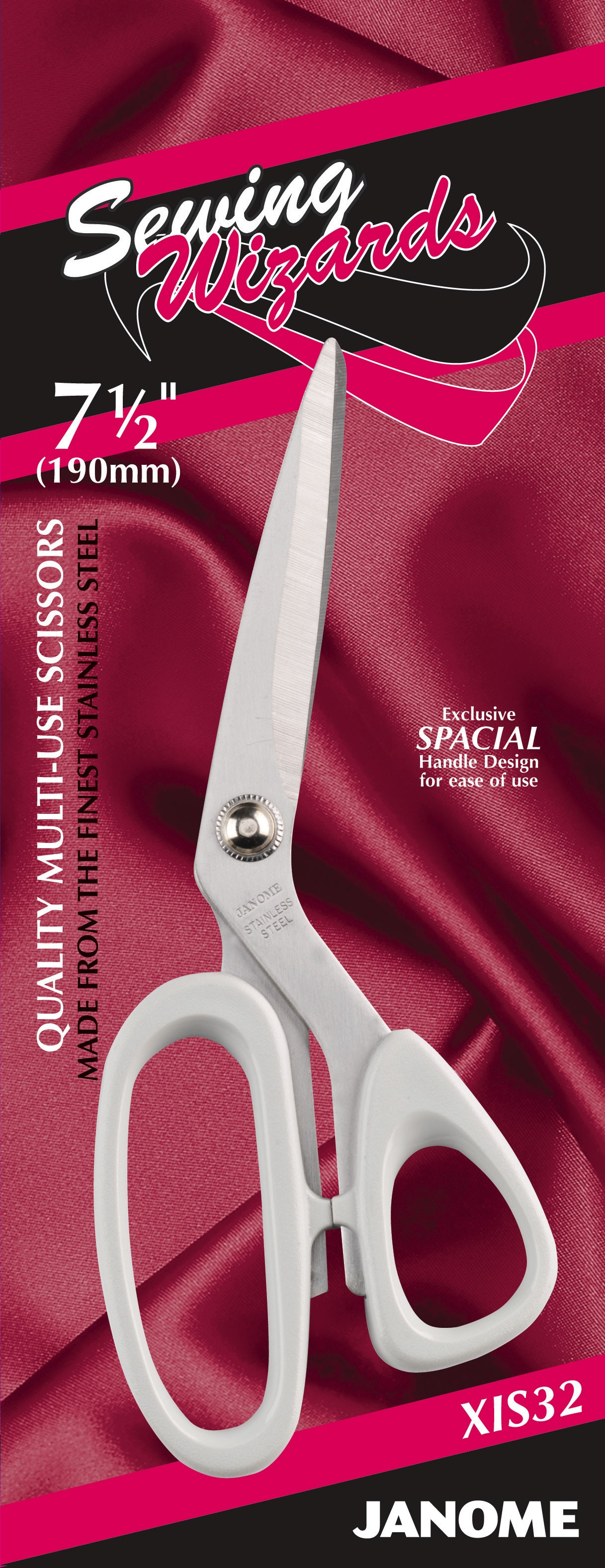 7.5 Inch Sewing Wizards (Multi-use/Sewing/Craft Scissors)