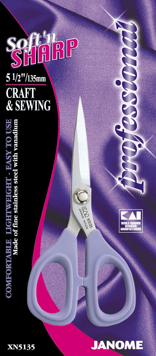 5.5 Inch Soft & Sharp Professional - Craft & Sewing Scissors