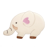 Large Motif: Baby: Velour Elephant: Cream with Pink
