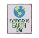 Craft Factory Iron or Sew On Fabric Motif Applique - Earth Day