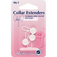 Collar Extender: White - 12mm - 3pcs
