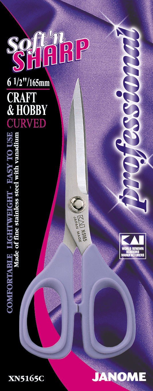6.5 inch Soft'n Sharp Professional - Sewing & Craft Scissors (Curved)