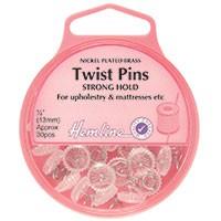 Twist Pins: Nickel - 13mm, 30pcs