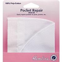 Iron-On Pocket Repair: White - 18 x 18cm