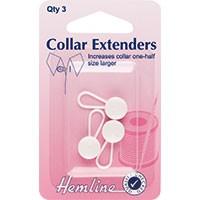 Collar Extender: White - 12mm - 3pcs
